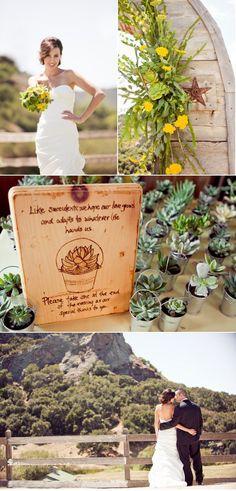 Cute plant wedding favors