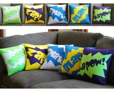 Comic pillows, so awesome