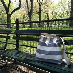 My ikabag in Central Park NYC. I love this bag so much!! It's so perfect for travel, I take it everywhere!! :) You can find one on Etsy!!