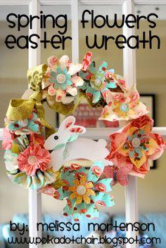 Moda Bake Shop: Spring Flowers Easter Wreath