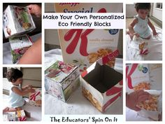 Make Your Own Eco Friendly Blocks from The Educators' Spin On It