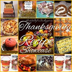Bloggers Showcase: The Best Thanksgiving/Fall Recipe RoundUp #Thanksgiving #Recipe #FallRecipe #PumpkinRecipe