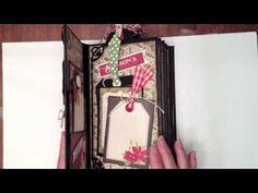 video tutorial for construction - Vertical Paper Bag Mini Album.  Best vertical bag tutorial I have seen.