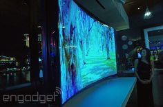 Samsung shows off its 85-inch curved TV that bends with the touch of a button (video) curved screens, 85inch curv, gadget, curv tv, bend, buttons, samsung, curved tv, curve tv