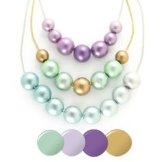 Martha Stewart Crafts® Ombre Wooden Bead Necklaces Martha Stewart Crafts Mad About Color April 2014 Palette - click thru for the full tutorial - #marthastewart #marthastewartcrafts #plaidcrafts #diy #crafts #12Monthsofmartha