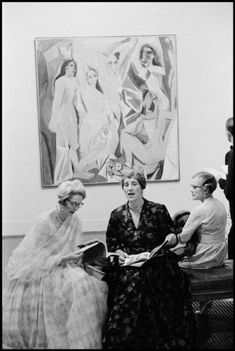 Opening of the Picasso retrospective at the Tate Gallery, 1960  by Burt Glinn