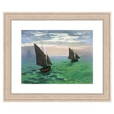 Reproduction of original art Leaving the Harbor by Claude Monet