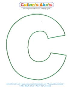 Letter C Pattern | Cullen's Abc's    http://online-preschool.cullensabcs.com/preschool-days/christmas-around-the-world-day-2/