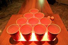 Light up Custom Beer Pong Table!!