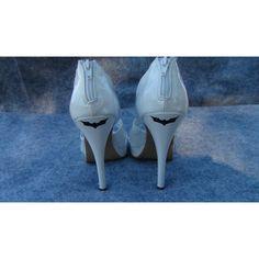 2 Batman Dark Knight Vinyl Stickers For Wedding High Heel Shoes Bridal... ($2.99) ❤ liked on Polyvore
