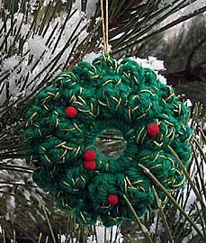 Crochet ornaments wreath alone