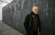 Richard Serra is an American minimalist sculptor and video artist known for working with large-scale assemblies of sheet metal. Serra was involved in the Process Art Movement.   Google Search galleries, december, artists, exhibitions, black walls, contemporari sculptur, fernando pessoa, contemporary sculpture, richard serra