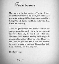 Fading Polaroid / Lang Leav