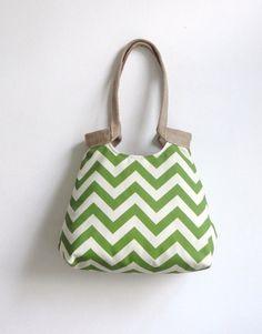 Water resistant Greenage chevron hobo bag Fall by madebynanna, $63.00