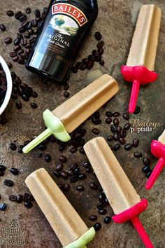 Baileys Poptails | 23 Popsicles That Will Get You Drunk just for the Irish coffee Popsicle!!