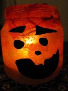 Jack-o-Lantern Candle Craft for Halloween | Naturally Educational #Halloween