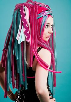 #cyberlox to my dreads for a bit of fun :)  Also, Zoe has been bugging me to get them for her!!