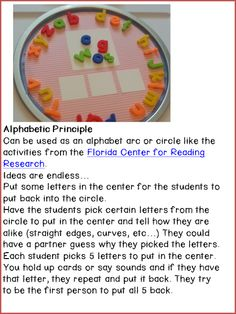 Magnetic Trays for alphabet arc/circle activities.