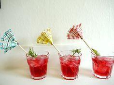 cupcake liner stir sticks ....
