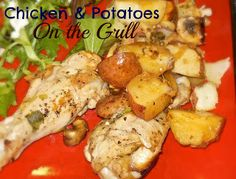 Chicken Foil Packs w/Potatoes, Cooked on the Grill