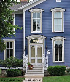 Historic Cottage Restoration ! Love the Exterior Blue !.