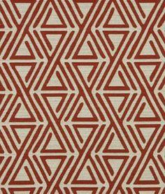 Robert Allen @ Home Triangle Maze Currant Fabric - $19.6 | onlinefabricstore.net