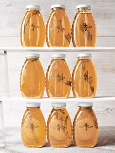 use clear labels - print bee picture and place on jar.  Homemade Food Gifts - Edible Christmas Food Gift Ideas - Country Living