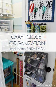 Small home  big ideas for organizing a craft closet