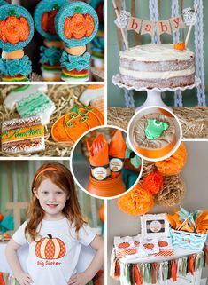 Rustic Fall Little Pumpkin Baby Shower Party Ideas