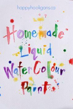 Vibrant Homemade Liquid Watercolours for Kids! - happy hooligans