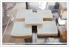 Custom printed cookies! Modern Luxe La Jolla  Wedding by Alchemy Fine Events: The ultimate dessert bar!