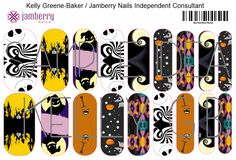 Nightmare Before Christmas inspired Jamberry NAS nail sample. Contact ...