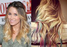 Lauren Conrad's Rainbow-Colored Hair