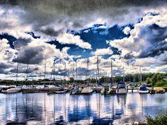 Lough Neagh Boats. Sea landscape