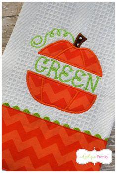 Split Pumpkin Applique Design