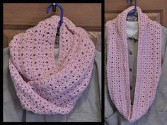 """Soft, pretty 56"""" infinity scarf cowl for summer wear.  Great gift for a cancer patient/survivor."""