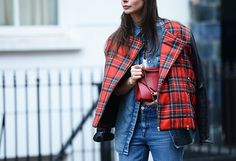 A touch of plaid with your Canadian tuxedo.