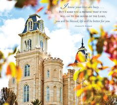 """""""I know your lives are busy... but I make you a promise that if you will go to the house of the Lord, you will be blessed; life will be better for you.""""  ― Gordon B. Hinckley.   2013 Temple Calendar: Manti, Utah Click here to enter your picture for the 2014 temple calendar! http://on.fb.me/16LZkSi"""