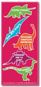 {Freebie} Dino-mite Valentine's Party! | Pizzazzerie