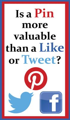 Is a Pin on #Pinterest more valuable than a #Like or a #Tweet?    For more Pinterest tips, follow #PinterestFAQ, curated by  #JosephKLeveneFineArtLtd     https://pinterest.com/jklfa/pinterest-faq/