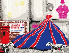 "Saatchi Online Artist: Richard Ryan; Screen-printing, 2010, Printmaking ""London street"""