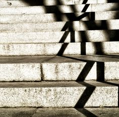 Zig zag shadowed stairs
