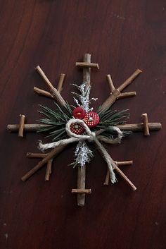 Rustic Snowflake Ornaments