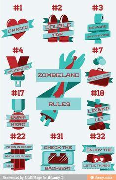 ZombieLand zombie survival rules