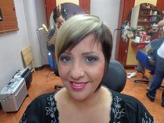 Beautiful... corte de cabello corto dos tonalidades.