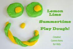 Lemon lime playdough. It smells like juicy fruit gum!