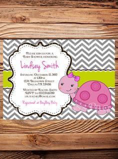 Turtle+Baby+shower+Invitation+Girl+Boy+by+StellarDesignsPro,+$21.00