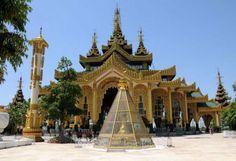 pagodas in yangon | The platform of Kyauktawgyi Buddha Image