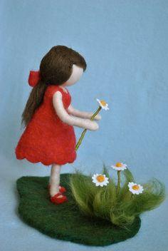 needle felting waldorf doll