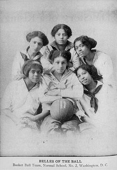 """'Belles of the Ball'- 1911 Basketball team, Normal School Number 2, Washington, DC)"""